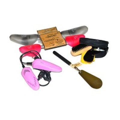 kit accessori cura e pulizia delle scarpe