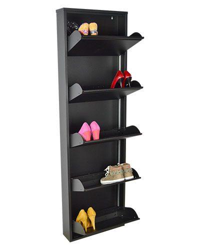 scarpiera-nera-grande-aperta-con-scarpe